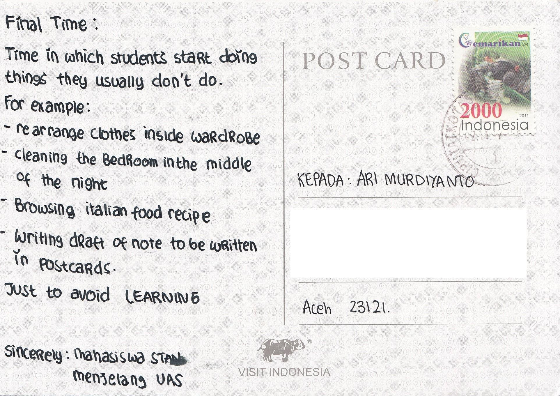 Tangkuban Perahu Postcard The Science Of Life