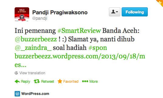 Tulisan ini menjadi pemenang kontes #SmartReview Banda Aceh