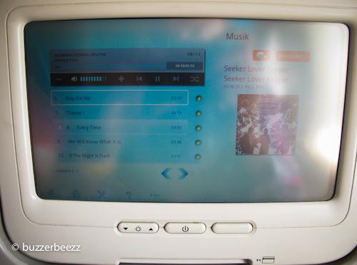 Ini salah satu tampilan dari Audio Video on Demand dari Garuda Indonesia