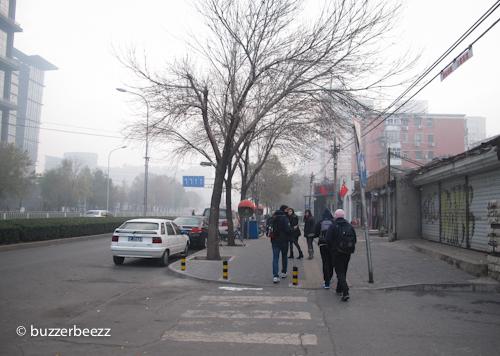 Suasana pagi di Beijing