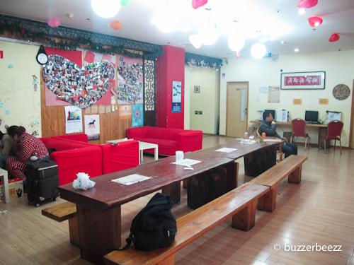Ruang bersama di hostel