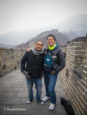 Di Great Wall bareng Pandji
