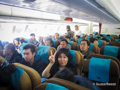 Saat penerbangan pulang ke Jakarta