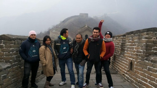 Tim MBWT Beijing di Great Wall