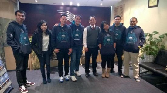 Abis meeting sama Pak Asa di Kantor Garuda Indonesia Beijing