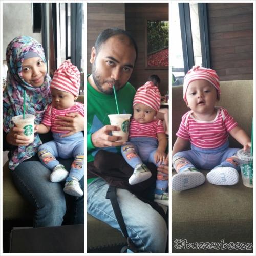 Anak bayinya anteng diajak nongkrong di Starbucks