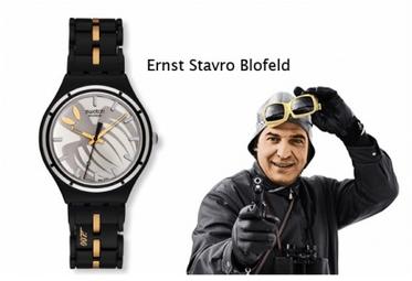 Ini jam tangan keren saya yang sudah raib *hiks jadi keingat lagi* (Sumber foto: http://www.jamesbondlifestyle.com/product/swatch-007-villain-collection)