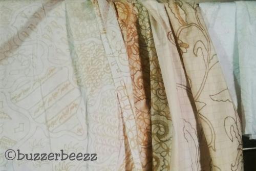 Proses pertama pendesainan Batik Bakaran